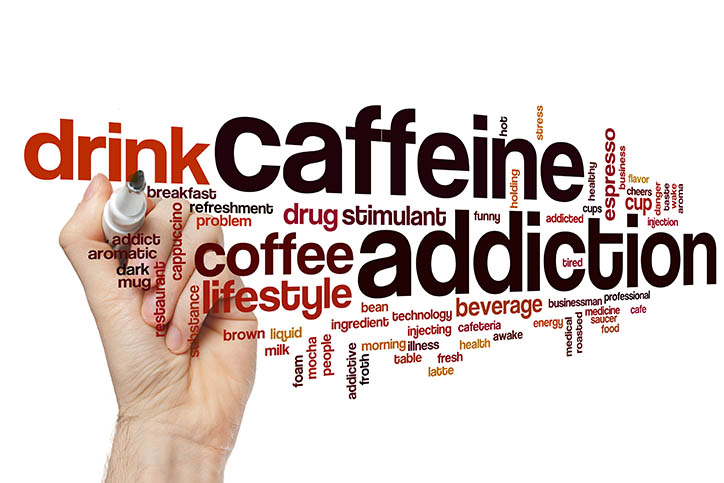 Word cloud about caffeine