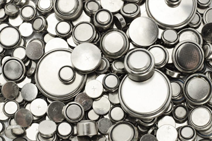 Background image of lithium batteries of various sizes